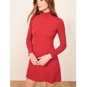 Reformation Jeans Rib Knit Mini Dress